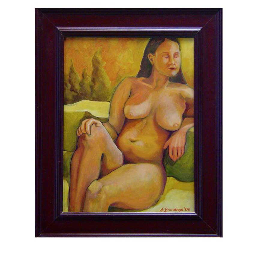 Addie Del Sol  2000 9x12 oil on masonite framed $250