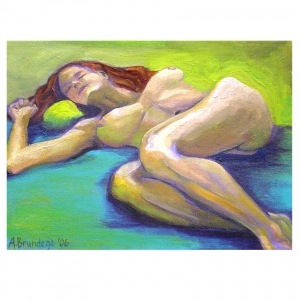 Amber Reclining 9 x12 oil on canvas $150.00
