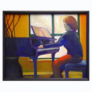 Connie Playing Piano oil on canvas $500.00